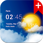 Download Transparent clock weather for Android free