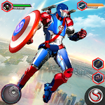 Download Super Captain Flying Robot City Rescue Mission for Android free